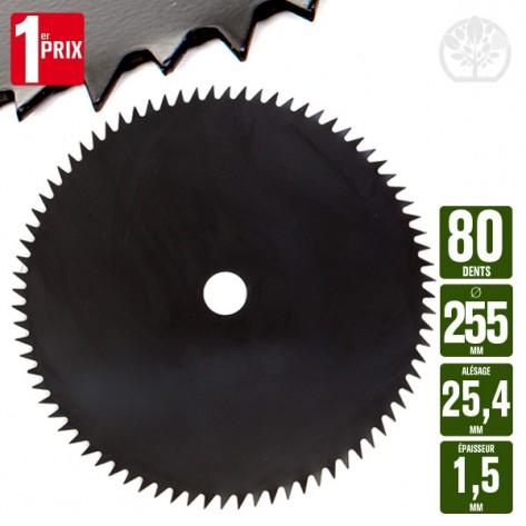 lame disque d broussailleuse 80 dents scie 255 mm al 25 4 mm ep 1 5 mm. Black Bedroom Furniture Sets. Home Design Ideas