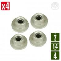 Passe fil tête débroussailleuse 4 fils. Ø7mm-Ø emboitement 14 mm