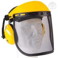 Visière incluant écran métallique grillagé + protection auditive