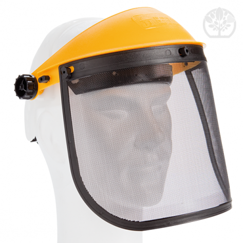 Visière de protection avec écran métallique grillagé