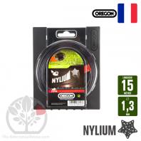 Fil débroussailleuse Orégon Etoilé Nylon Gris 1.3mm x 15m. Coque