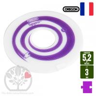 Fil débroussailleuse Orégon Nylon Violet 3mm x 5.2m. Taille L
