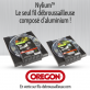 Fil débroussailleuse Orégon Carré Nylium Gris 2.4mm x 245m. Bobine