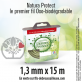 Fil oxo-biodégradable rond Natura Protect beige/vert 1,3 mm x 15 m. Coque