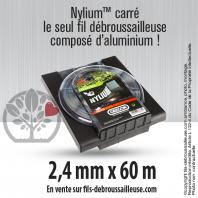 Fil débroussailleuse Orégon Carré Nylon Gris 2.4mm x 60m. Coque