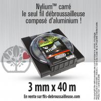 Fil débroussailleuse Orégon Carré Nylon Gris 3mm x 40m. Coque
