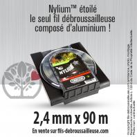 Fil débroussailleuse Orégon Etoilé Nylon Gris 2.4mm x 90m. Coque