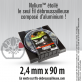 Fil débroussailleuse Orégon Etoilé Nylium Gris 2.4mm x 90m. Coque