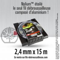 Fil débroussailleuse Orégon Etoilé Nylon Gris 2.4mm x 15m. Coque