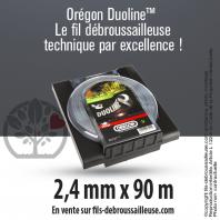 Fil débroussailleuse Orégon Rond Nylon Transparent 2.4mm x 90m. Coque