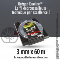 Fil débroussailleuse Orégon Rond Nylon Transparent 3mm x 60m. Coque