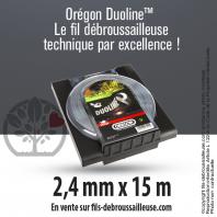 Fil débroussailleuse Orégon Rond Nylon Transparent 2.4mm x 15m. Coque