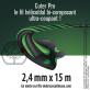 Fil débroussailleuse Hélicoidal Cuter' Pro noir/vert. 2,4 mm x 15 m. Coque