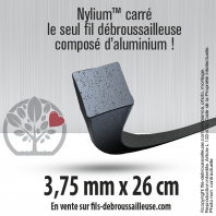 Fil débroussailleuse Orégon Carré Nylon Gris 50 brins 3.75mm. Tube