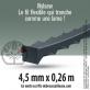 5 tubes + 1 offert fil débroussailleuse cranté Nylsaw noir. 15 brins. 4,5 mm x 0,26 m.