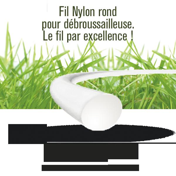 fil nylon rond pour d broussailleuse 1 2mm longueur 15m. Black Bedroom Furniture Sets. Home Design Ideas