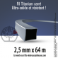 Fil débroussailleuse carré Titanium gris. 2,5 mm x 64 m. Coque
