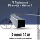 2 Fils débroussailleuse carré Titanium gris. 3 mm x 44 m. Coque. Coupe fil offert