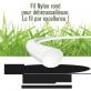 10 fils débroussailleuse Rond Nylon blanc. 1,2 mm x 15 m. Coque.