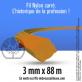 Fil débroussailleuse carré Nylon orange. 3 mm x 88 m. Bobine