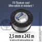 Fil débroussailleuse rond Titanium gris. 2,5 mm x 243 m. Bobine