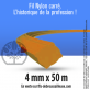 Fil débroussailleuse carré Nylon orange. 4 mm x 50 m. Bobine