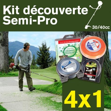 Kit découverte SEMI-PRO. Lot de 4 fils débroussailleuse