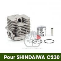 Cylindre-piston pour Shindaiwa C 230. Ø 32 mm