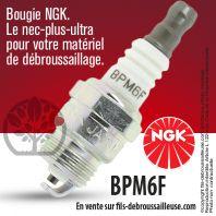 Bougie NGK BM6F pour la motoculture