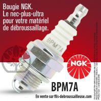 Bougie NGK BM7A pour la motoculture