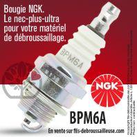 Bougie NGK BPM6A pour la motoculture