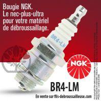 Bougie NGK BR4LM pour la motoculture