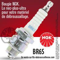 Bougie NGK BR6S pour la motoculture