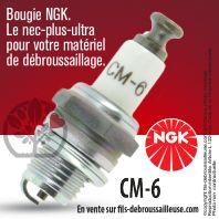 Bougie NGK CM6 pour la motoculture