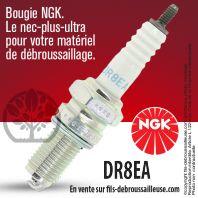 Bougie NGK DR8EA pour la motoculture
