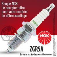 Bougie NGK ZGR5A pour la motoculture