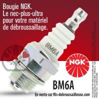 Bougie NGK BM6A pour la motoculture