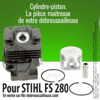 Cylindre-piston pour Stihl FS 280. Ø 40 mm