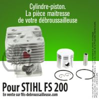 Cylindre-piston pour Stihl FS 200. Ø 38 mm