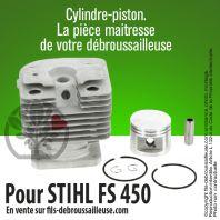 Cylindre-piston pour Stihl FS 450. Ø 42 mm