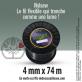 Fil débroussailleuse cranté Nylsaw noir. 4 mm x 74 m. Bobine