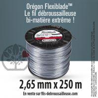 Fil débroussailleuse Orégon Carré FlexiBlade Gris 2,65mm x 250m. Bobine