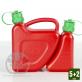 Bidon double rouge avec bec verseur auto-stop