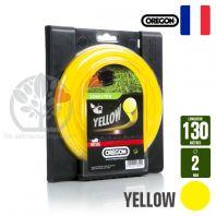 Fil débroussailleuse Orégon Rond Yellow jaune. 2 mm x 130 m. Bobine