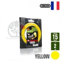 Fil débroussailleuse Orégon Rond Yellow jaune. 2 mm x 15 m. Coque