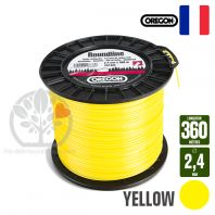 Fil débroussailleuse Orégon Rond Yellow jaune. 2,4 mm x 360 m. Bobine