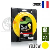 Fil débroussailleuse Orégon Rond Yellow jaune. 2,4 mm x 90 m. Bobine