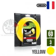 Fil débroussailleuse Orégon Rond Yellow jaune. 3 mm x 60 m. Bobine