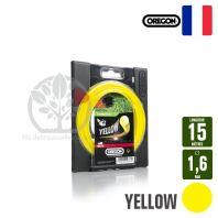 Fil débroussailleuse Orégon Rond Yellow jaune. 1,6 mm x 15 m. Coque