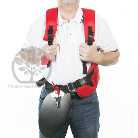Harnais débroussailleuse universel attache rapide, protection hanche confort professionnel